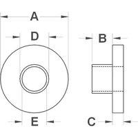 TRU Components TC-TW63D203 Isolierbuchse Außen-Durchmesser: 6 mm, 3.5mm Innen-Durchmesser: 2.9mm