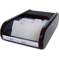 Helit H6218095 the personal Visitenkartenbox 300 Karten (B x H x T) 240 x 67 x 136mm Schwarz Polyeth