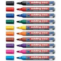 Edding 4-250001 250 whiteboard marker Whiteboardmarker Schwarz