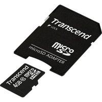 Transcend Premium microSDHC-Karte 4GB Class 10 inkl. SD-Adapter
