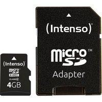 Intenso 4GB Micro SDHC-Card microSDHC-Karte 4GB Class 4 inkl. SD-Adapter
