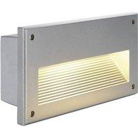 SLV Brick Downunder 229062 Außeneinbauleuchte E14 Energiesparlampe 40W Silber-Grau