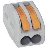 WAGO 222-412-1 222 Verbindungsklemme flexibel: 0.08-4mm² starr: 0.08-2.5mm² Polzahl: 2 Grau, Orang