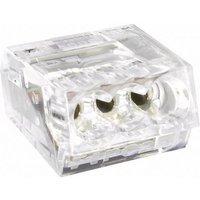 TRU COMPONENTS 741700 Dosenklemme flexibel: - starr: 0.25-2.5mm² Polzahl: 2 Transparent