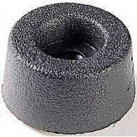 4002 Gerätefuß schraubbar, rund Schwarz (Ø x H) 17.5mm x 9mm