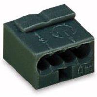 WAGO Dosenklemme starr: -0.8mm² Polzahl (num): 4 Dunkelgrau