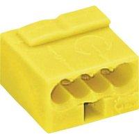 WAGO Dosenklemme starr: -0.8mm² Polzahl (num): 4 Gelb
