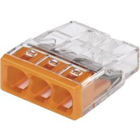 WAGO Dosenklemme starr: 0.5-2.5mm² Polzahl: 3 Transparent, Orange