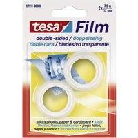 TESA 57911-00000-01 Doppelseitiges Klebeband tesafilm® Transparent (L x B) 7.5m x 12mm 2St.