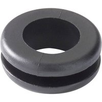HellermannTyton HV1208-PVC-BK-M1 Kabeldurchführung Klemm-Ø (max.) 8mm Plattenstärke (max.) 1.5mm