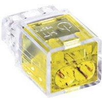 HellermannTyton Verbindungsklemme starr: 0.5-2.5mm² Polzahl (num): 2 HECP-2 Gelb