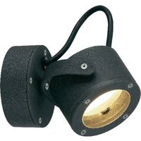 SLV Sitra 360 231515 Außenwandleuchte Energiesparlampe, LED GX53 9W Anthrazit