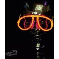 F-GLSred Knicklichter Brille Rot