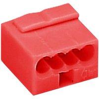 WAGO Dosenklemme starr: -0.8mm² Polzahl (num): 4 Rot