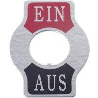 TRU Components TC-Indicator Plate ON/OFF Bezeichnungsschild Aufdruck-Motiv EIN/AUS