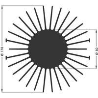Dissipateur thermique LED SK 590 D76375 - FISCHER ELEKTRONIK