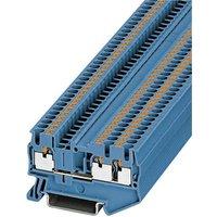 Phoenix Contact PT 2,5-TWIN BU 3209552 Durchgangsklemme Polzahl: 3 0.14mm² 2.5mm² Blau