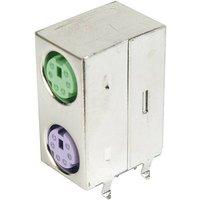 Assmann WSW Mini-DIN-Dual Port-Buchse, geschirmt geschirmt Pole: 6 Inhalt