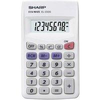 Sharp EL-233 S Taschenrechner Weiß Display (Stellen): 8 batteriebetrieben (B x H x T) 62 x 8 x 105m