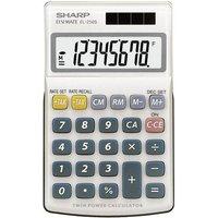 Sharp EL-250 S Taschenrechner Weiß, Blau Display (Stellen): 8solarbetrieben, batteriebetrieben (B x