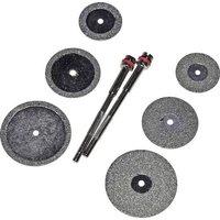 RONA 6 DISQUES POUR COUPER ET LIMER Diamant-Schleif- und Trennscheibensatz 8tlg. Schaft-Ø 2,35mm 1