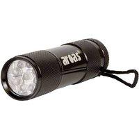 Arcas Alu 9 LED LED Mini-Taschenlampe batteriebetrieben 65g