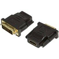 LogiLink AH0001 HDMI / DVI Adapter [1x HDMI-Buchse - 1x DVI-Stecker 24+1pol.] Schwarz