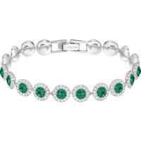 Angelic Bracelet, Green, Rhodium Plated