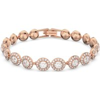Angelic Bracelet, White, Rose-gold Tone Plated