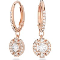 Swarovski Sparkling Dance Round Pierced Earrings, White, Rose-gold tone plated - Dance Gifts