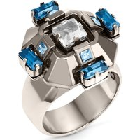 Cristaux Deco Ring, Ruthenium Plating