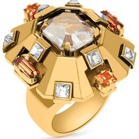 Cristaux Deco Large Ring, Gold-tone Plated