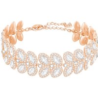 Baron Bracelet, White, Rose-gold Tone Plated
