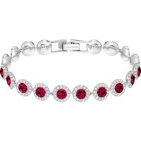 Angelic Bracelet, Red, Rhodium Plated