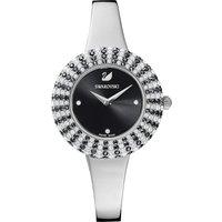 Crystal Rose Watch, Metal bracelet, Black, Stainless steel