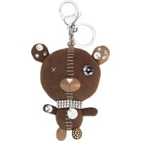 Swarovski Arnold Bag Charm, Brown, Stainless steel