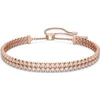 Subtle Bracelet, White, Rose-gold tone plated