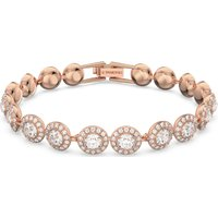 Swarovski Angelic Bracelet, White, Rose-gold tone plated