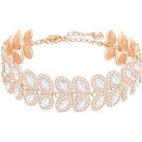 Baron Bracelet, White, Rose-gold Tone Plated