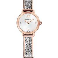 Cosmic Rock Watch, Metal bracelet, Grey, Rose-gold tone PVD