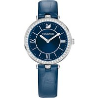 Swarovski Aila Dressy Lady Watch, Leather strap, Blue, Stainless steel