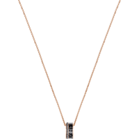 Swarovski Alto Pendant, Gray, Rose-gold tone plated
