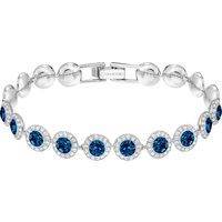 Angelic Bracelet, Blue, Rhodium Plated