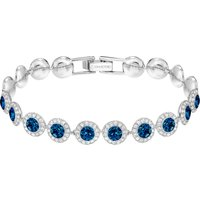 Swarovski Angelic Bracelet, Blue, Rhodium plated