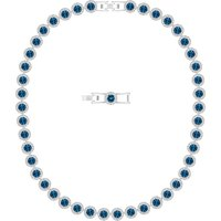 Swarovski Angelic Necklace, Blue, Rhodium plated