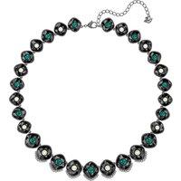 Black Baroque Necklace, Multi-coloured, Ruthenium Plated