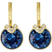Bella V Pierced Earrings, Blue, Gold-tone Plated