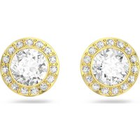 Swarovski Angelic Stud Pierced Earrings, White, Gold-tone plated