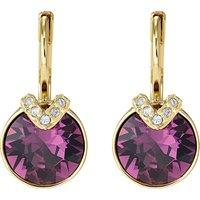 Bella V Pierced Earrings, Purple, Gold-tone Plated