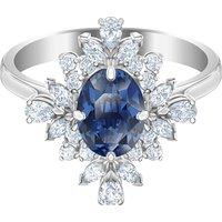 Palace Motif Ring, Blue, Rhodium plated - Swarovski Crystal Gifts